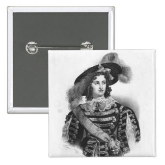 Mademoiselle George in the role of Queen 15 Cm Square Badge