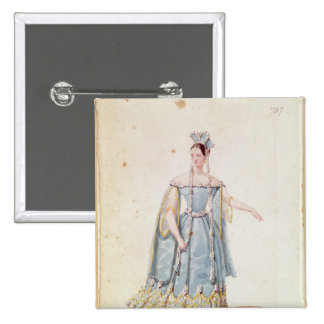 Mademoiselle Georges in 'Isabeau de Baviere' 15 Cm Square Badge