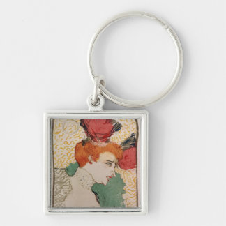 Mademoiselle Marcelle Lender, 1895 Silver-Colored Square Key Ring