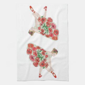 Mademoiselle Poppy Ballerina Tea Towels