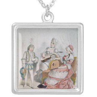 Mademoiselle Reichemberg as Cherubin Square Pendant Necklace