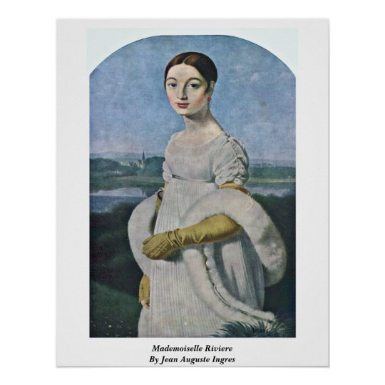 Mademoiselle Riviere By Jean Auguste Ingres Poster
