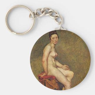 Mademoiselle Rose Basic Round Button Key Ring