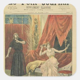 Mademoiselle Sibyl Sanderson  and Monsieur Jean Square Sticker