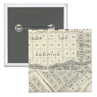 Madera County, California 3 15 Cm Square Badge