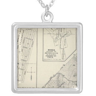 Madera County, California Silver Plated Necklace