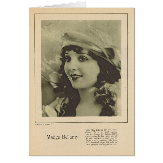 Madge Bellamy 1923 Card