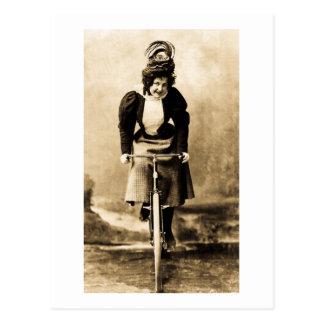 Madge Lessing on Bike Vintage 1902 Post Card