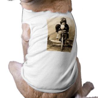 Madge Lessing on Bike Vintage 1902 Sleeveless Dog Shirt