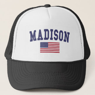 Madison AL US Flag Trucker Hat