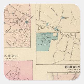 Madison, Bordentown, NJ Square Sticker