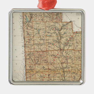 Madison, Chenango, Broome counties Silver-Colored Square Decoration