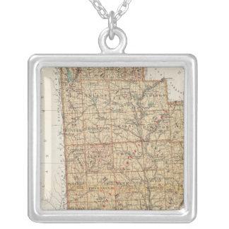 Madison, Chenango, Broome counties Square Pendant Necklace