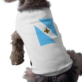 Madison city flag  Wisconsin state America country Dog Tee