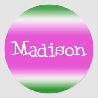 Madison Classic Round Sticker