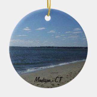 Madison CT Connecticut Hammonasset Beach Christmas Ornament