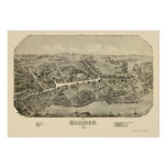 Madison, CT Panoramic Map - 1881 Poster