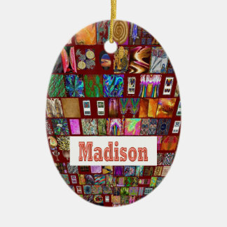 MADISON - Elegant gifts to n from Madison Double-Sided Oval Ceramic Christmas Ornament
