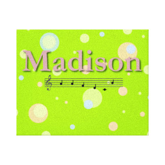 Madison Musical Name Bedroom Nursery Room Gallery Wrap Canvas