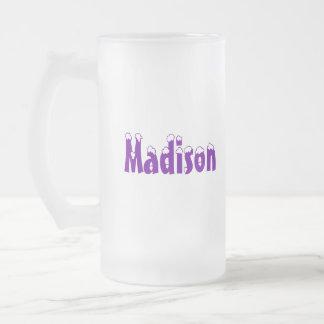 Madison-Name Style Frosted Mug