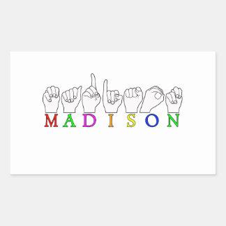 MADISON RECTANGLE STICKER