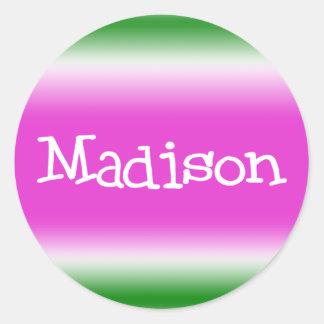 Madison Round Sticker
