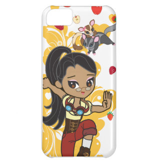 Madison the Steampunk Cartoon Girl & Sugar Gliders iPhone 5C Case