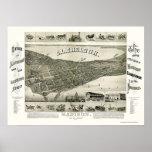 Madison, WI Panoramic Map - 1885 Poster