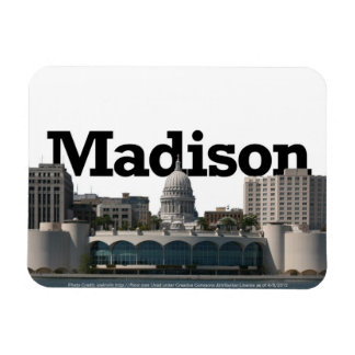 Madison WI Skyline with Madison in the Sky Magnet