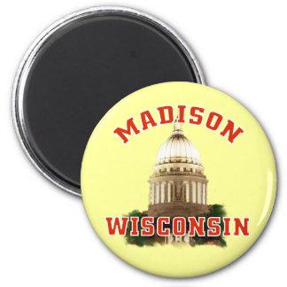 Madison,Wisconsin 6 Cm Round Magnet