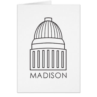 Madison Wisconsin Capitol Building Card