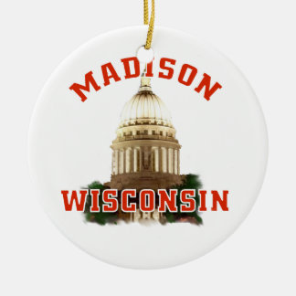 Madison,Wisconsin Christmas Ornament