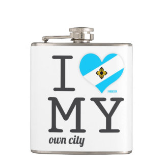 Madison   Wisconsin Hip Flask