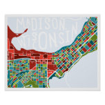 Madison, Wisconsin Map Poster