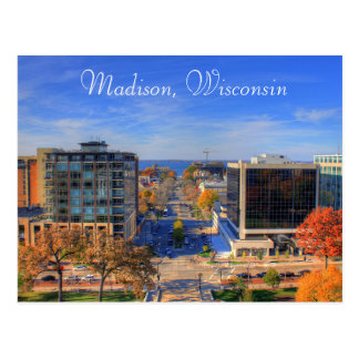 Madison Wisconsin Photograph Digital Art Postcard