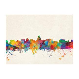 Madison Wisconsin Skyline Cityscape Canvas Print