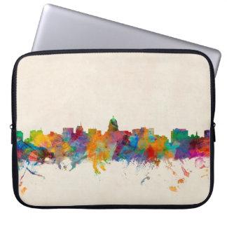 Madison Wisconsin Skyline Cityscape Laptop Sleeve
