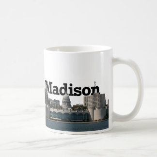 Madison Wisconsin Skyline with Madison in the Sky Coffee Mug