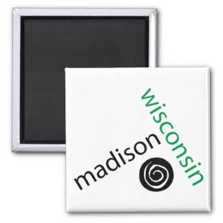 Madison Wisconsin Square Magnet