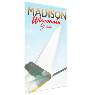 Madison Wisconsin USA Vintage flight poster Canvas Print