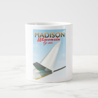 Madison Wisconsin USA Vintage flight poster Large Coffee Mug