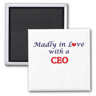 Madly in love with a Ceo Square Magnet