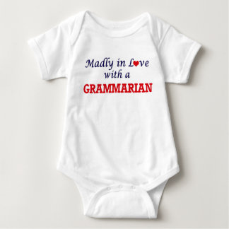 Madly in love with a Grammarian Baby Bodysuit