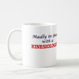 Madly in love with a Kinesiologist Basic White Mug