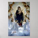 Madona Queen of Angels Bouguereau Regina Angelorum Poster