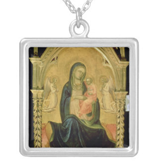 Madonna and Child, 1400 Silver Plated Necklace