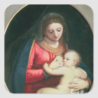Madonna and Child, 1598 Square Sticker