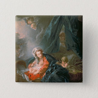 Madonna and Child, 18th century 15 Cm Square Badge