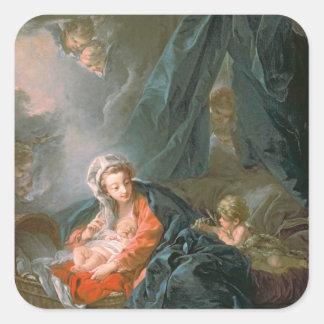 Madonna and Child, 18th century Square Sticker