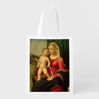 Madonna and Child 2 3 Grocery Bag